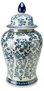 """24"""" Vine Ginger Jar, Blue/White - One Kings Lane"""