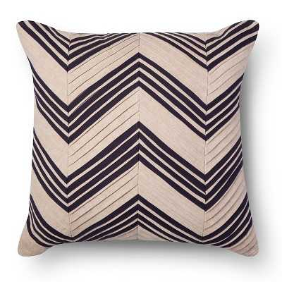 """Pleated Chevron Square Decorative Pillow Tan - 18"""" - with insert - Target"""