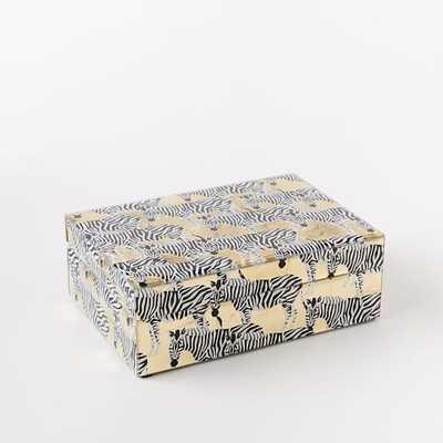 Metallic Zebra Decoupage Boxes - West Elm