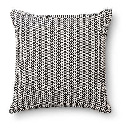"Room Essentialsâ""¢ Woven Triangle Pillow - Ebony - Target"