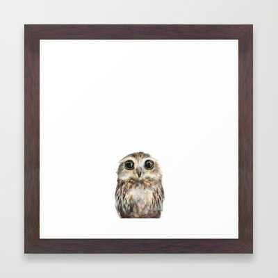 """Little Owl - 12"""" X 12"""" - Framed - Society6"""