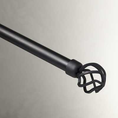 Matte Black Single Curtain Rod and Hardware Set - Wayfair