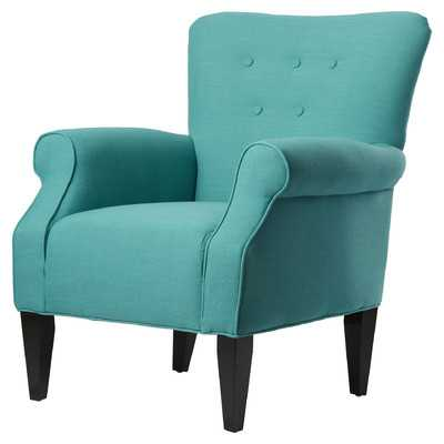 Delia Neon Button Back Arm Chair - Wayfair