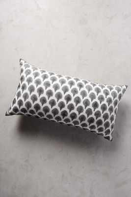 "John Robshaw Petiole B&W Pillow-17"" x 32""-down, feather fill - Anthropologie"