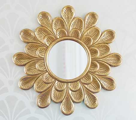 Carved Gold Flower Mirror - Pottery Barn Kids
