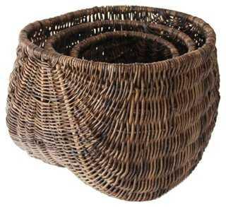 S/3 Vine Rope Baskets - One Kings Lane