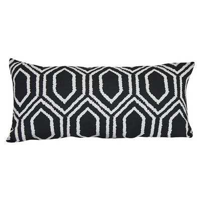 Outdoor Pillow - Black Hex - 10x20 - Polyester Insert - Target