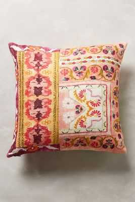 """Pirra Pillow - 20"""" x 20"""" - Red - Polyfill - Anthropologie"""