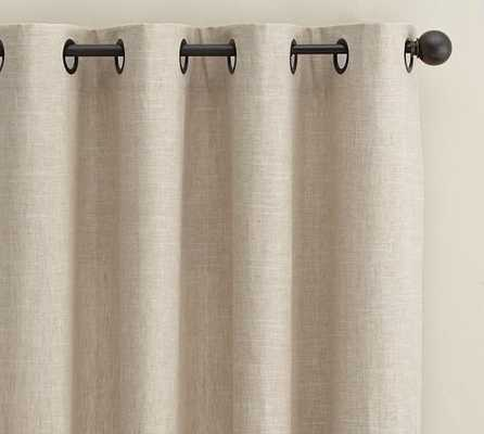Emery Linen/Cotton Grommet Drape with Blackout Lining - Pottery Barn