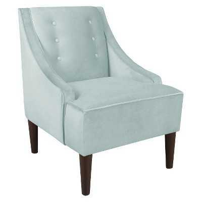 Skyline Custom Upholstered Swoop Arm Chair-Velvet pool - Target