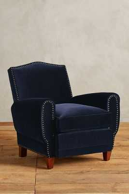 Velvet Nailhead Clairmont Chair - Anthropologie
