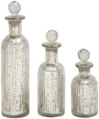Delila Bottles - Set of 3 - Home Decorators