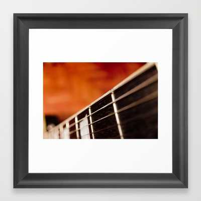 "Guitar - 12"" x 12"" - Framed - Society6"