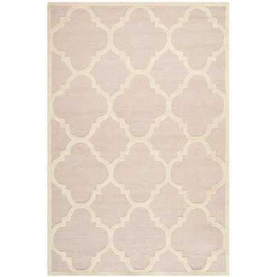 Cambridge Trellis Light Pink & Ivory Area Rug - Wayfair