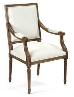 George Armchair, White - One Kings Lane
