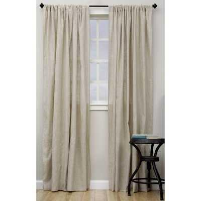 Classic Linen Blend Curtain Panel - Overstock