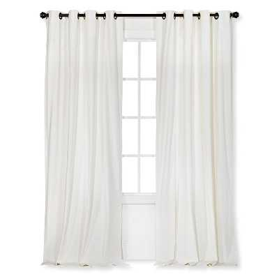 "Velvet Curtain Panel - Cream - 54""W x 95""L - Target"