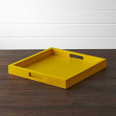 Zuma YellowTrays - Crate and Barrel