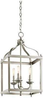 Kichler Larkin Wide Brushed Nickel Foyer Pendant - Lamps Plus