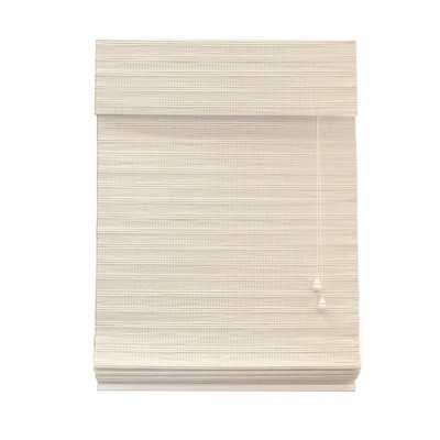 Lewis Hyman Chesapeake Collection Bamboo Roman Shade in White - Overstock