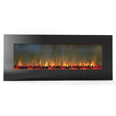 Metropolitan Wall Mount Electronic Fireplace - Realistic Logs - Wayfair