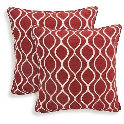 """Essentials Gemma Chenille Geometric Throw Pillow - 2 Pack - 20""""sq. - Polyester fill - Target"""
