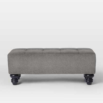 Essex Upholstered Bench - Boucle, Dusty Sky - West Elm