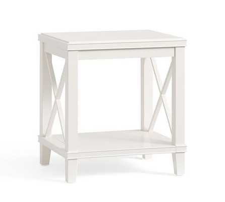 Cassie Side Table - Sky Whte - Pottery Barn