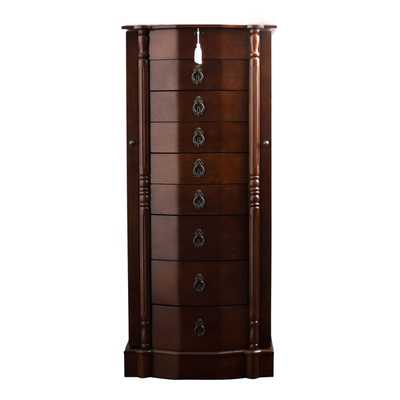 Hives & Honey Robyn Walnut Jewelry Armoire - Overstock