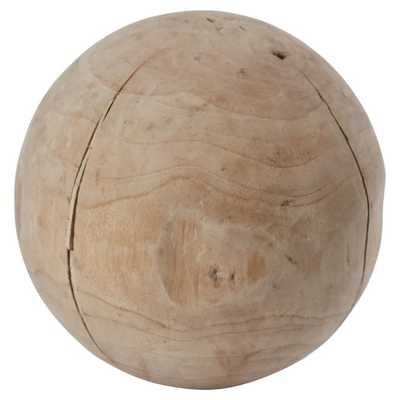 Teak Decorative Ball - AllModern