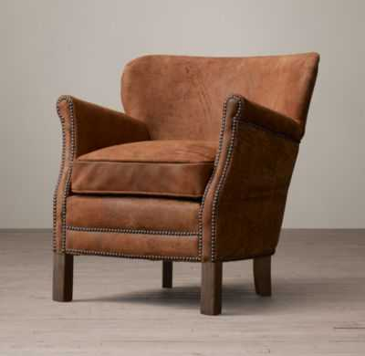 PROFESSOR'S LEATHER CHAIR WITH NAILHEADS - RH
