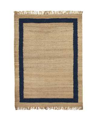Jute Border Rug - navy - 2'6x10 - Serena and Lily