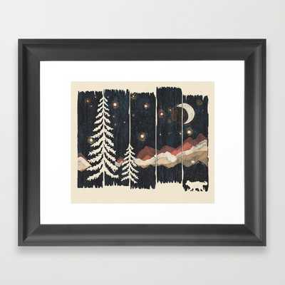 """A Starry Night in the Mountains - 12"""" x 10"""" - Framed - Society6"""