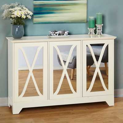 Simple Living Reflections Buffet/ Console - Antique white - Overstock