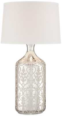 Patty Mercury Glass Bottle Table Lamp - Lamps Plus