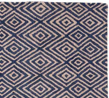 Devin Tufted Rug - Blue - Pottery Barn