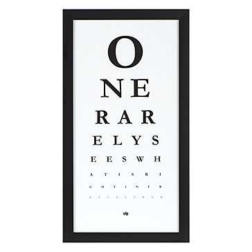 Eye Chart - framed - Z Gallerie