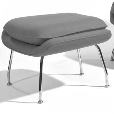AEON Furniture Newark Ottoman in Gray and Chrome - jet.com