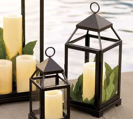 MALTA LANTERN - BRONZE FINISH-MEDIUM - Pottery Barn