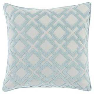 Alexandria Pillow, Light Blue - One Kings Lane