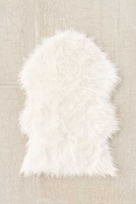 Faux Sheepskin Shaped Rug - Urban Outfitters