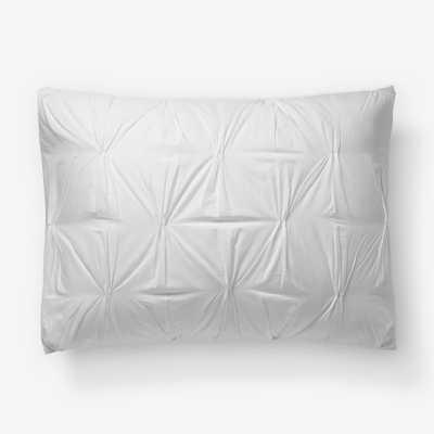 Organic Cotton Pintuck  Standard Sham - White - West Elm