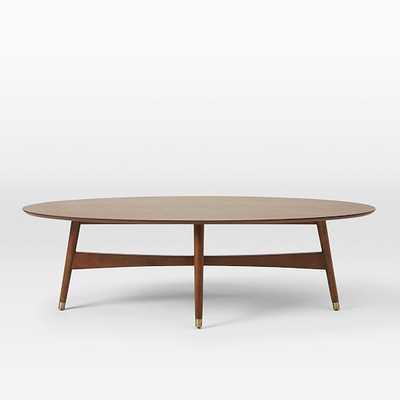 Reeve Mid-Century Coffee Table - Oval - West Elm