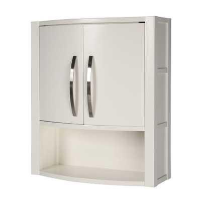 DECOLAV Lola 22-in W x 26-in H x 9-in D White Birch Bathroom Wall Cabinet - Lowes
