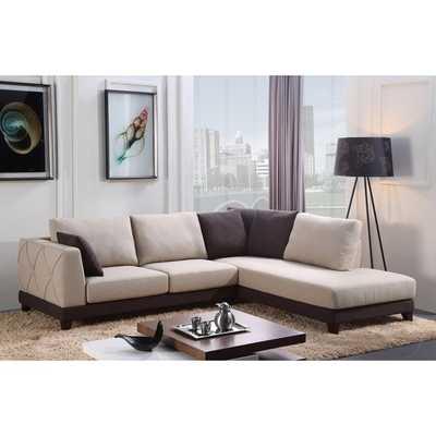 ABBYSON LIVING 'Verona' Fabric Sectional Sofa - Overstock