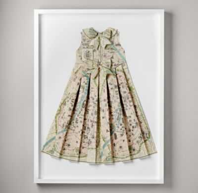 hand-folded vintage map dress - RH Baby & Child