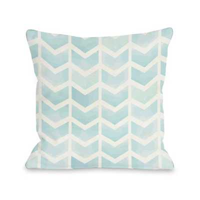 "Waterfall Chevron Throw Pillow, 18""Sq, Polyester insert - AllModern"
