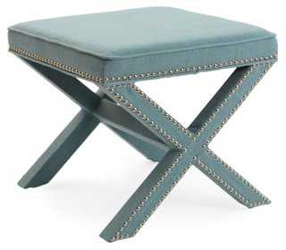 Palmer Ottoman, Robin's-Egg Blue - One Kings Lane