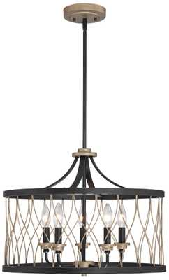 "Witmer Black Bronze 20 1/2"" Wide 5-Light Pendant - Lamps Plus"