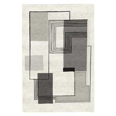 Abstract Lines Special Order Wool Rug - West Elm